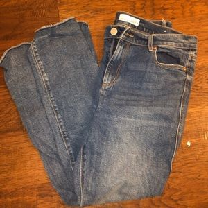 loft medium washed jeans